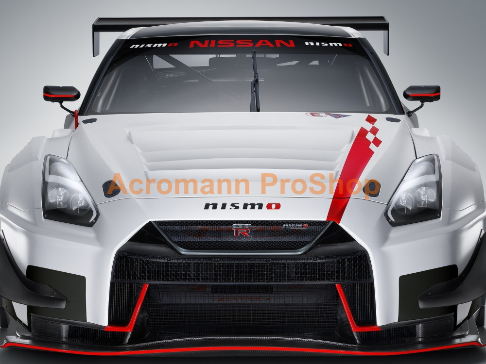 NISMO Nissan GTR R35 GT3 '18-19 Bonnet Hood Stripe Decal Sticker